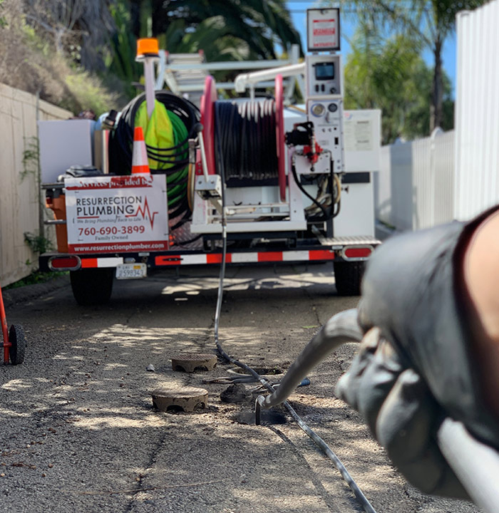 hydro jetting clogged drains carmel valley